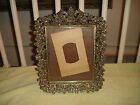 Vintage Victorian Gilded Floral Metal Picture Frame-Free Standing-Amazing Detail
