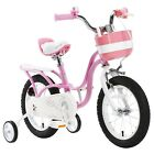 ROYAL BABY LITTLE SWAN PRINCESS GIRLS PINK KIDS BIKES IN SIZE 12 14 16 18