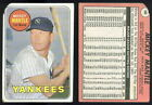 (30572) 1969 Topps 500 Mickey Mantle Yankees-No Creases-FR