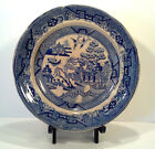 Early Staffordshire Pearlware Blue Willow Plate c1825-1835 9-1/8