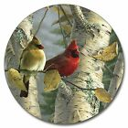 Pretty Cardinal Feathered Friends 15 Inch Lazy Susan Kitchen Serving Turntable