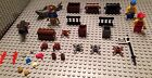Lego Pirate Lot / 3 Figures / Accessories / Treasure Chest / Shark / Ship Parts