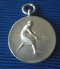 UNUSUAL Sterling Silver  Medal / Fob 1929  Lady Tennis Player  -  not engravd