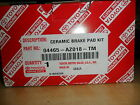 GENUINE TOYOTA CERAMIC FRONT BRAKE PADS 04465-AZ018-TM STOP SAFELY AND QUICKLY