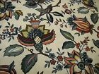 REMNANT WAVERLY PAULINA JACOBEAN CENTENNIAL SAMPLER COTTON FABRIC 50