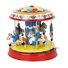 Vintage Tin Toy Carousel Merry Go Model Retro Style Adult Collectibles Gift