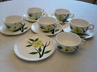 12 Pc Dixie Dogwood China Cups Saucers 6 Sets Joni Original Hand Painted 1950's