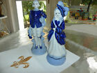 ANTIQUE...MADE IN OCCUPIED JAPAN....SET OF FIGURINES IN BLUE AND WHITE