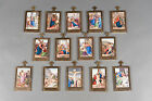 Rare Complete Set of the 14 Station of the Cross Hand Painted Limoges Porcelain