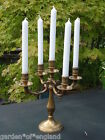 a  charming vintage French brass candelabra (8914)