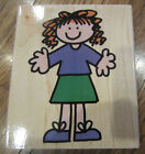 Hero Arts Little Girl Just Kids Hannah Wooden Rubber Stamp