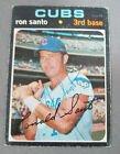 Ron Santo Signed 1971 Topps Card #220 Cubs Died-2010 JSA COA #1
