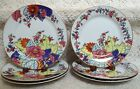 IMPERIAL LEAF Tobacco Leaf CHINA 3 Luncheon Plates & 3 Salad Plates EXCELLENT