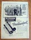 1944 Grabow Pre-Smoked Pipes Ad  America's One & Only Pre-Smoked Pipe