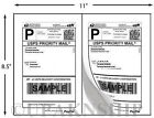 1400 Paypal Shipping Postage Labels 2 Labels per Page 8.5x5.5 w Square Edges