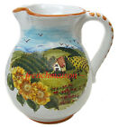 Italian-Made WINE/WATER PITCHER Handmade Handpainted Tuscan Country Ceramic New