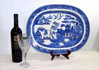 ANTIQUE WEDGWOOD BLUE WILLOW LARGE. 18.5