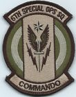 USAF PATCH 6 SPECIAL OPERATIONS SQUADRON RARE MULTI CAM VERSION ON VELCRO AFSOC
