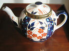 Vintage Imari Style Teapot  Made in England Unknown Maker Probably Staffordshire