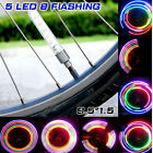 RQQ 2pcs Bike Wheel Tire Valve Cap Flash Light Bicycle Spoke Neon Lamp 5 LEDs