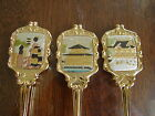 The Art of Chokin Collection - Asian Oriental Spoons  Gold Color