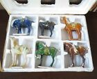 Set of 6 Horses in Colorful Porcelain - Chinese Figurine 4