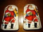 Vintage Old Fashioned SANTA Salt and Pepper Shakers EUC Presents Sled