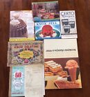 7 VIntage COOKBOOKS 1931 - 1960's Jello Knox Certo Jam Jelly Label Recipes
