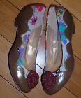 Poetic Licence cherry blossom leather fabric low heel shoes pumps 6 NWOB girly