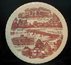 Early Memphis On The Mississippi Red Souvenir Plate By Metlox Vernon 10+