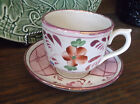 Antique England 1800s Pink Luster Lustre Tea Cup and Saucer Set Ceramic