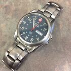 Swiss Military Watch Stainless Steel Mens 100m Genuine Swiss Made 096 1009