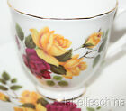 Elizabethan England Tea Cup and Saucer 2713 Red and Yellow Roses Gold Gilt