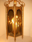 Vintage Cathedral Church Porch Gothic Ceiling Light Swag Wrought Iron Chandelier
