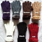 NEW!Women's Warm Winter Knit Gloves Mittens One Size Fur Lining