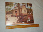 NEW NICE Negro Log Cabin Watermelon Chickens Dog Country Art Print in Plastic