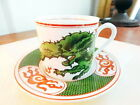 Fitz and Floyd DRAGON CREST - GREEN Demitasse Cup and Saucer (S) - NICE!