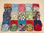 15 Happy Flute One Size (OS) All-In-One Cloth Diapers with 2 pockets