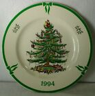 SPODE china CHRISTMAS TREE S3324 green Made in England COLLECTOR PLATE 1994