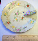 .ANTIQUE HAND PAINTED DISH WITH HANDLE FROM JAPAN T&T