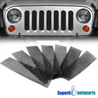 For 2007 2018 Wrangler JK Front Hood Grille Mesh Guard Rugged Radiator Armor