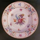 Schumann Dresden Soup or Low Bowl Empress Pattern Crosshatch Cartouches c.1931