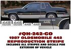 Qh-242-go 1987 Oldsmobile - Olds 442 Reproduction Stripe Kit - Body Decal Names