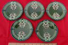 Superb Lot Of 5 19th Century Eichwald Germany Art Nouveau Plates ca 1900, Sweet!