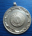 Sterling Silver Darts Medal / Watch Fob h/m 1939  -  Cresswell  Northumberland