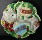 FITZ & FLOYD china KRISTMAS KITTY pattern CANAPE PLATE 9-1/8