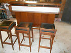 danish mid century modern dyrlund bar with stools