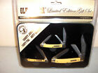 SCHRADE KNIFE - OLD TIMER 55th ANNIVERSARY SET - 3 KNIVES