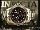 Invicta Men's Specialty Swiss Chronograph Brown Dial Stainless Steel Watch