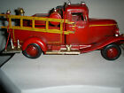 Antique Vintage Metal Fire Truck Engine Collectible